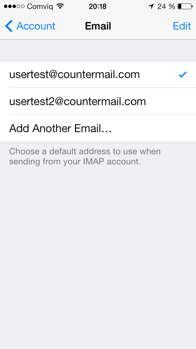 how to add alias emails on iphone